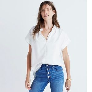 Madewell Central Shirt in Pure White Size Medium